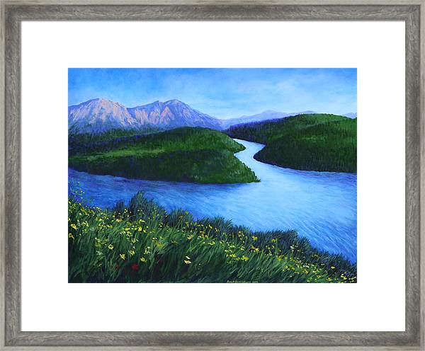 The Mountains Beyond Framed Print