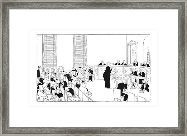 The National Capital Commitee Hearing - Open Framed Print