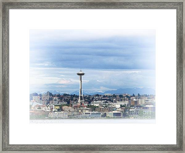 The Needle In Seattle Wa Framed Print