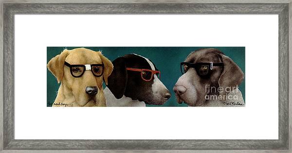 The Nerd Dogs... Framed Print