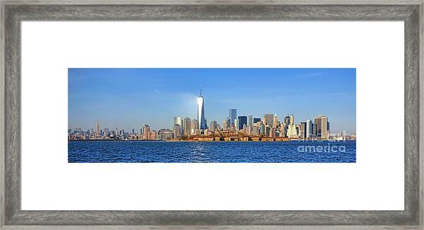 The New Manhattan Framed Print
