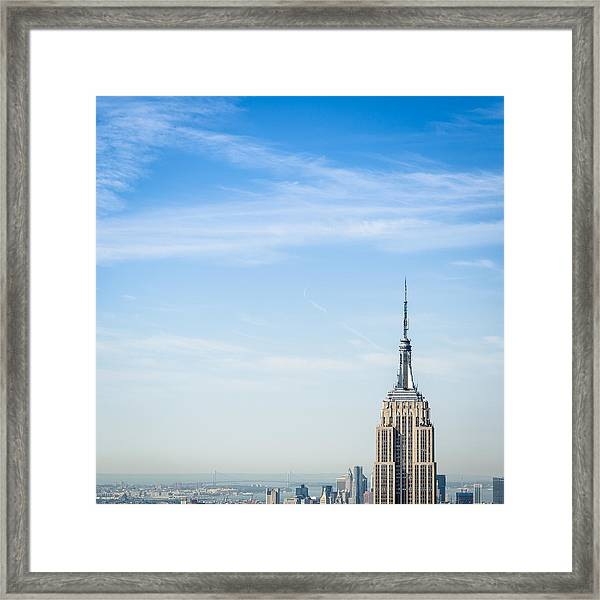 The New York City Empire State Building Framed Print
