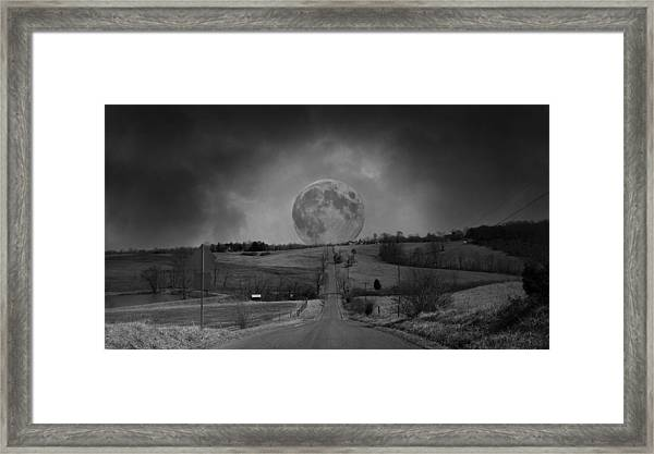 The Night Begins Framed Print