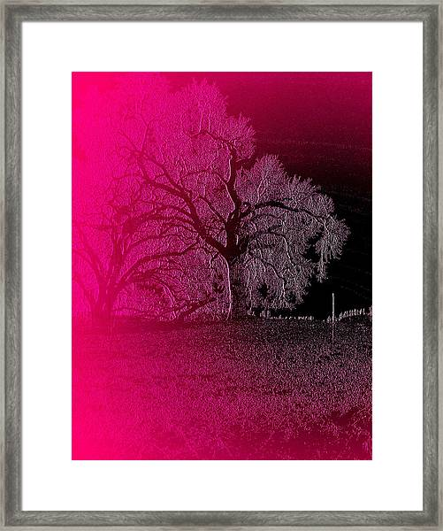 Framed Print featuring the digital art The Night by Visual Artist Frank Bonilla