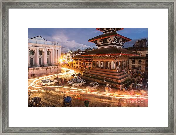 The Nights Of Stunning Kathmandu Framed Print