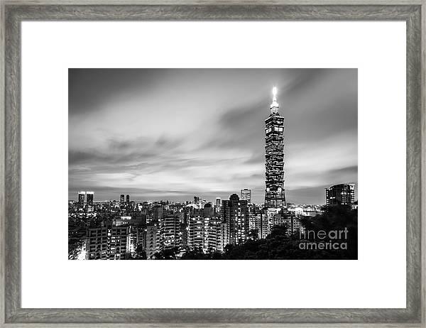 The Nights Of Taipei Framed Print