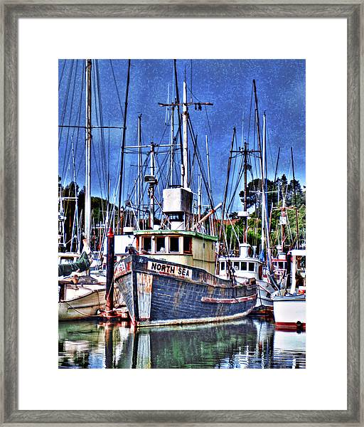 The Northern Sea Fishing Boat Framed Print