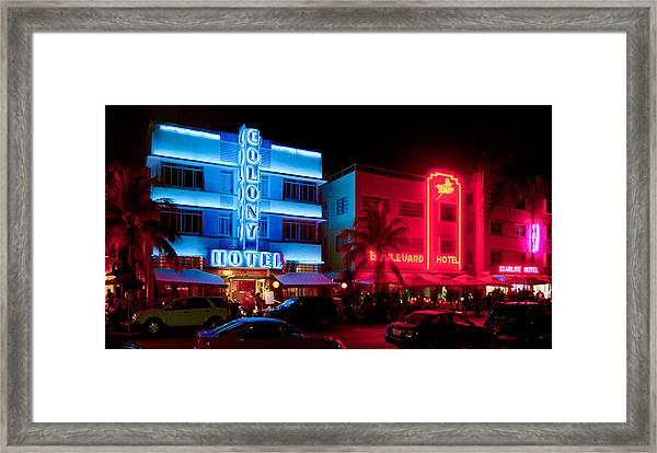 The Ocean Drive Framed Print
