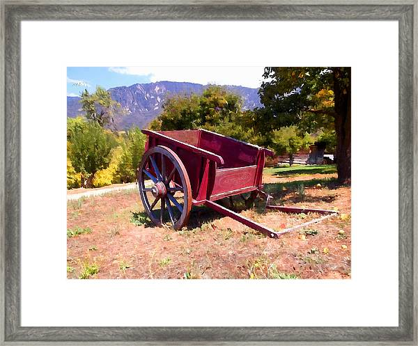 The Old Apple Cart Framed Print