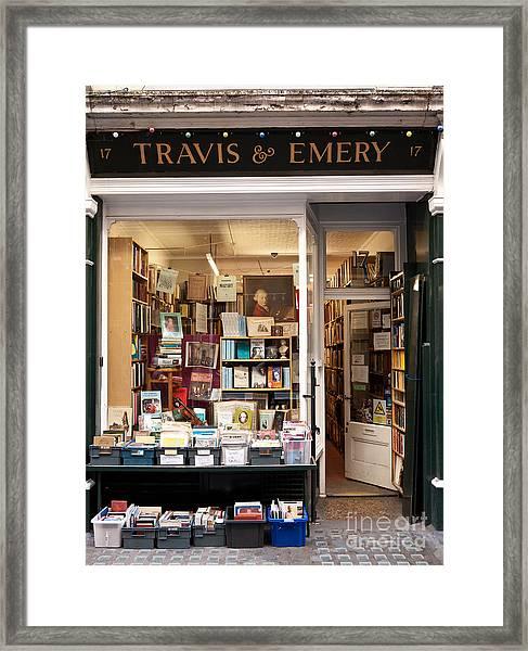 The Old Bookshop Framed Print