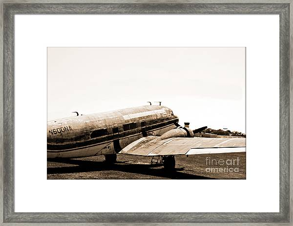 The Old Dc3 Framed Print by Steven Digman