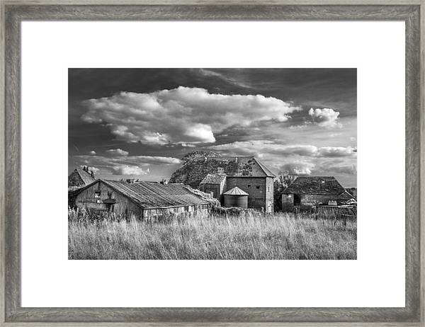 The Old Farm Buildings. Framed Print