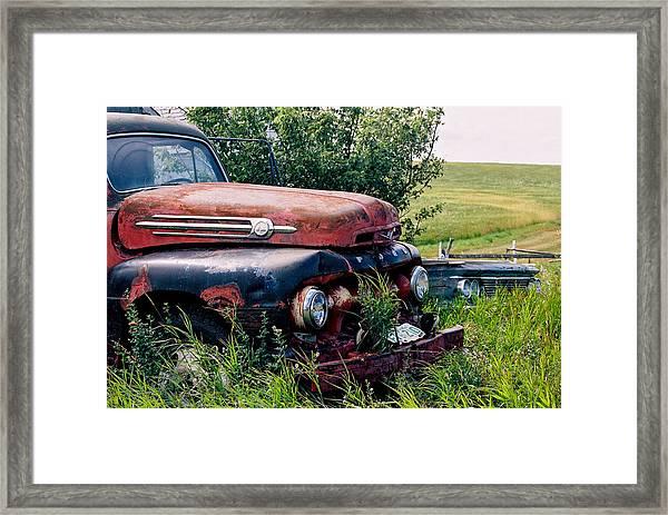 The Old Farm Truck Framed Print