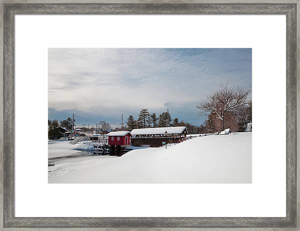 The Old Forge Covered Bridge Framed Print