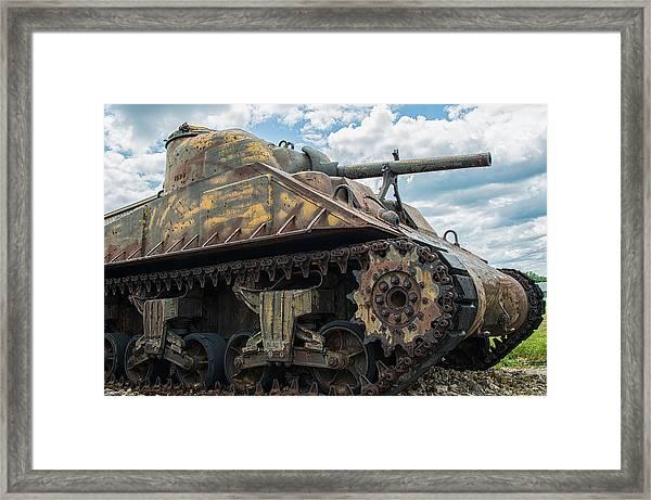 The Old Guardian-sherman Tank Framed Print