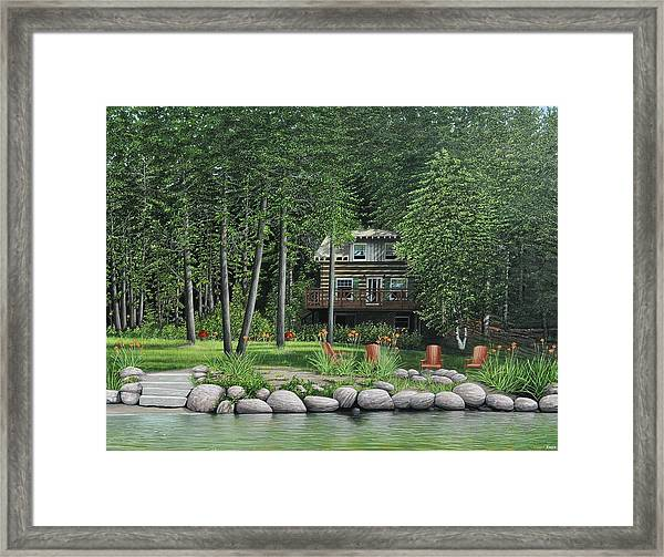 The Old Lawg Caybun On Lake Joe Framed Print