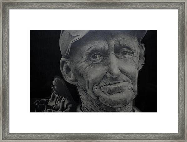 The Old Man And The Rocker Framed Print