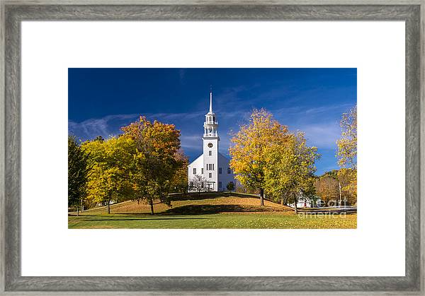 The Old Meeting House. Framed Print