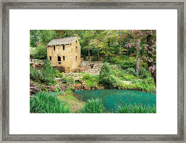 The Old Mill - North Little Rock - Pugh's Mill 1832 Framed Print