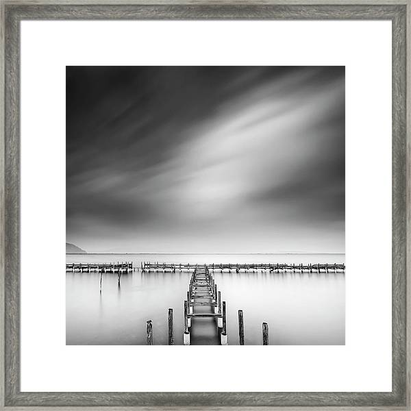 The Old Pier Framed Print by George Digalakis
