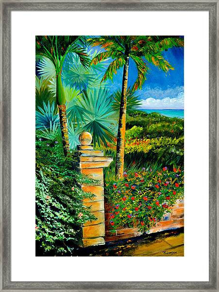 The Old Post In Key West Framed Print