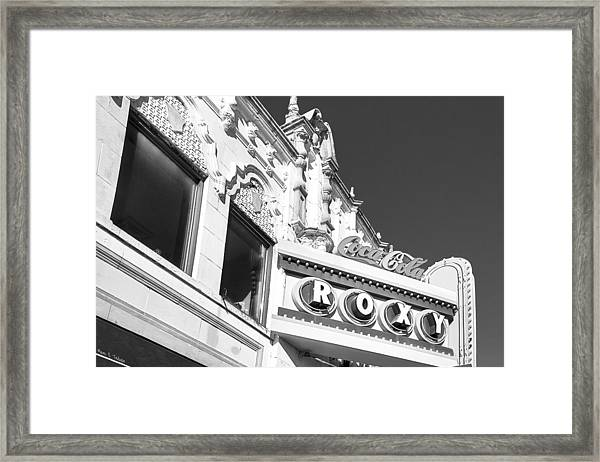 The Old Roxy Marquee - Atlanta Music Nostalgia Framed Print