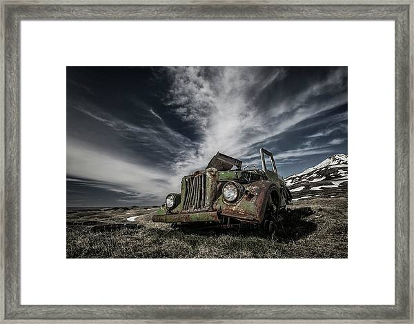 The Old Russian Jeep Framed Print