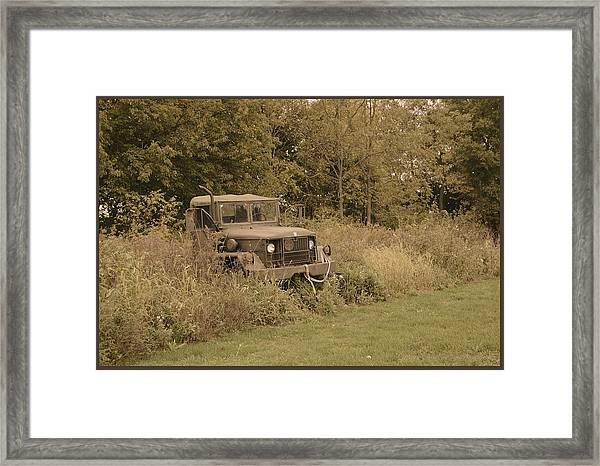 The Old Truck Framed Print