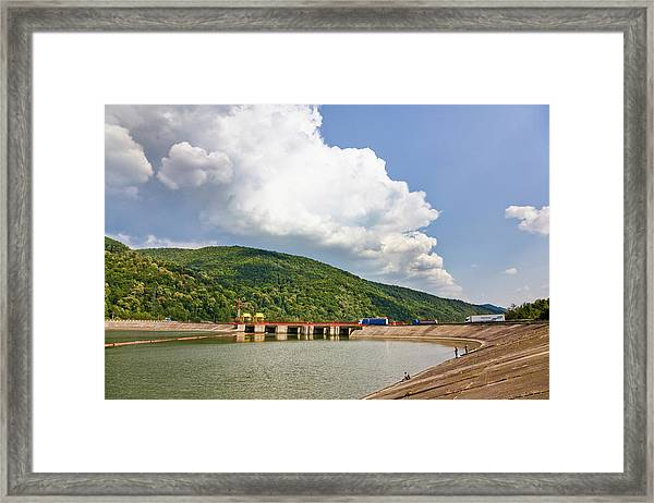 The Olt Gorge Through The Carpathian Framed Print
