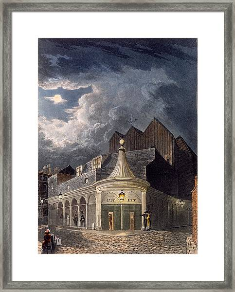 The Olympic Theatre, 1826 Framed Print
