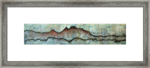 Framed Print featuring the painting The Only Way Out Is Through by Laurie Maves ART