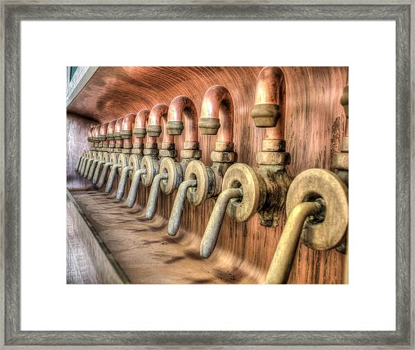 The Beer Valves Framed Print