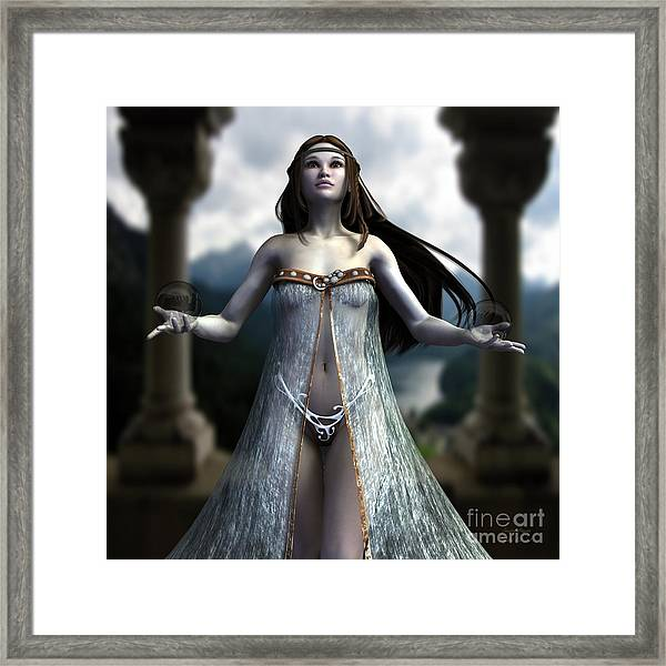 The Oracle Framed Print by Sandra Bauser Digital Art