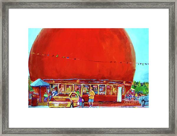 The Orange Julep Montreal Summer City Scene Framed Print