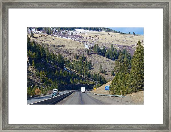 The Oregon Trail At Ladd Canyon Oregon Framed Print
