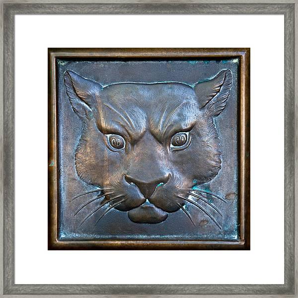 The Original Todd Hall Cougar Door Pulls - Washington State University Framed Print