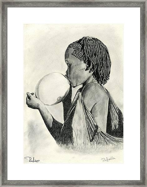 The Ostrich Egg Framed Print