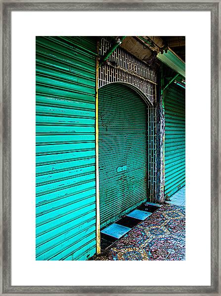Marrakech Aqua Framed Print
