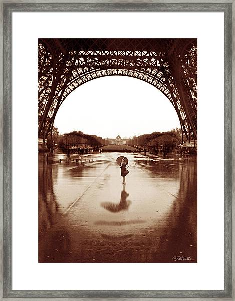 The Other Face Of Paris Framed Print
