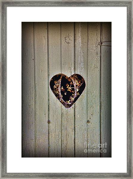 The Outhouse Of Amore Framed Print