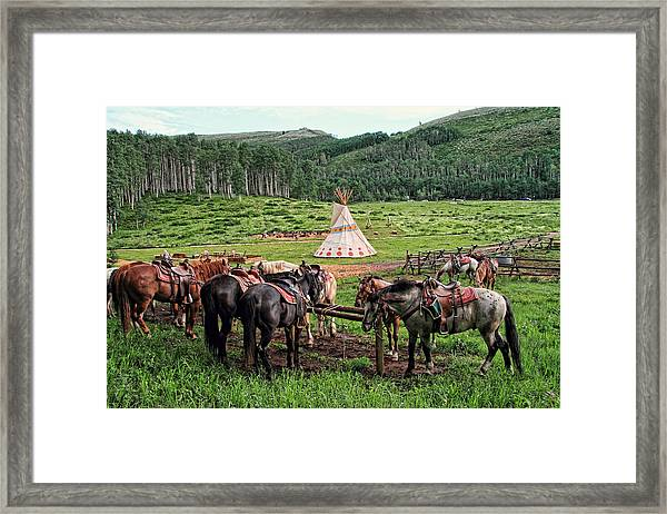 The Outpost Framed Print by Gene Praag