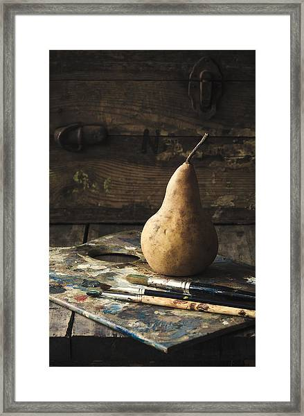 The Painter's Pear Framed Print