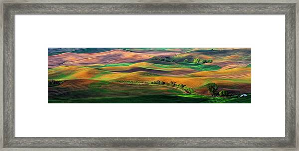The Palouse Framed Print by Hua Zhu