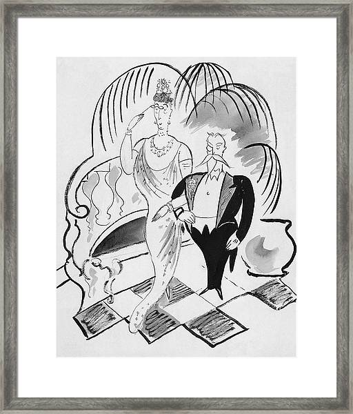 The Parents Of A Debutante At Her Coming Framed Print