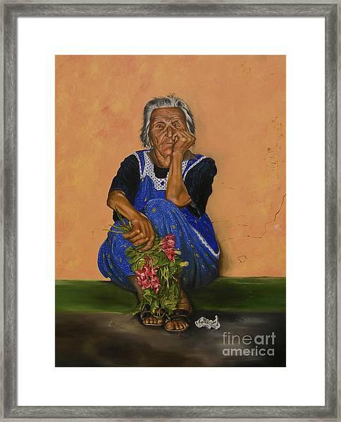 The Parga Flower Seller Framed Print