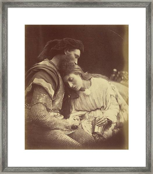 The Parting Of Sir Lancelot And Queen Guinevere Julia Framed Print