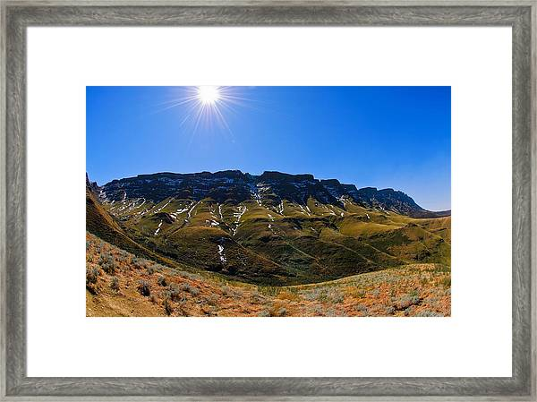 The Pass Framed Print by Aaron Bedell