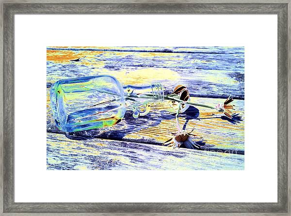 Lay The Past Down Behind Me Framed Print