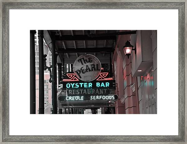 The Pearl Oyster Bar Framed Print