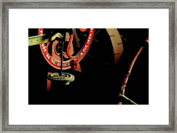 The Perfect Balance - Vintage Scales And Wheels Framed Print